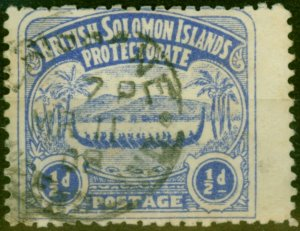 Solomon Islands 1907 1-2d Ultramarine SG1 Good Used