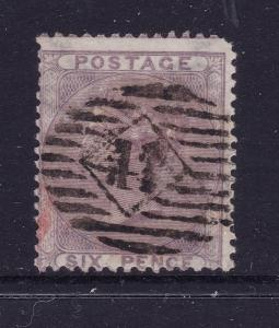 Great Britain a used 6d QV from 1855