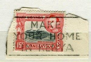 BRITISH KUT; 1938-40s early GVI issue used value, fine Postmark PIECE