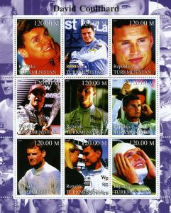 Turkmenistan 2000 David Coulthard Formula 1 Sheet Perforated mnh.vf