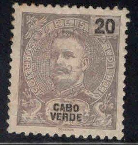 Cape Verde Scott 41 MH* King Carlos stamp