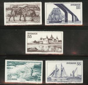 SWEDEN Scott 928-932 MH*  1972 tourism stamp set