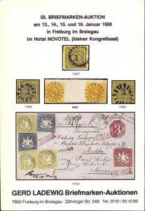 58. Briefmarken-Auktion, Gerd Ladewig  Jan. 13-16, 1988