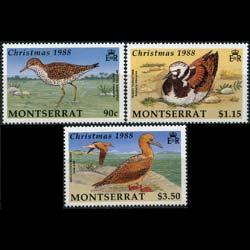 MONTSERRAT 1988 - Scott# 703-5 Christmas-Birds Set of 3 NH