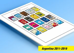 COLOR PRINTED ARGENTINA 2011-2019 STAMP ALBUM PAGES (76 illustrated pages)