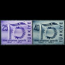 TURKEY 1957 - Scott# 1246-7 Collaboration Set of 2 LH