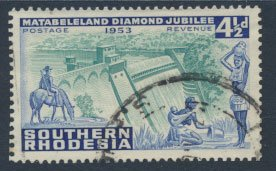 Southern Rhodesia  SG 74  SC# 77  Used  Cecil Rhodes 1953   see scans