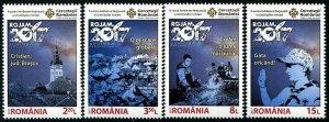 HERRICKSTAMP NEW ISSUES ROMANIA Sc.# 5980-83 Scouting Jamboree 2017