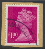 Great Britain SG U2912 SC# MH386 Security Machin £1  no source no date code ...