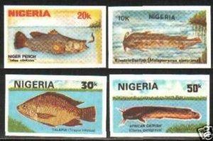 1991 Nigeria 573-79 imperf. / Sea fauna rare