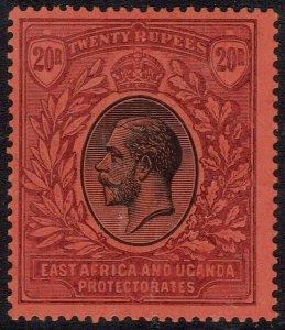 EAST AFRICA AND UGANDA 1912 KGV 20R WMK MULTI CROWN CA