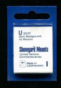 Showgard Black Stamp Mounts U 33/27 PreCut  (40 count)