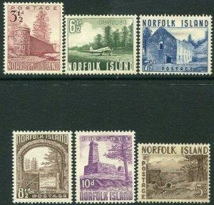 NORFOLK ISLAND-1953 Set to 5/- Sg 13-18 MOUNTED MINT V34503