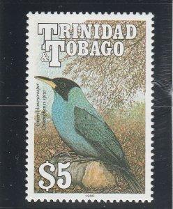 Trinidad & Tobago  Scott#  517a  MNH  (1997 Green Honeycreeper)