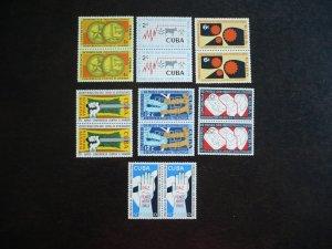 Stamps - Cuba - Scott#663-665, C215-C218 - MNH Set in Pairs
