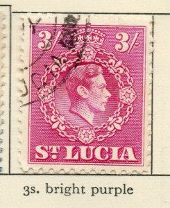 St Lucia 1938-48 GVI Early Issue Fine Used 3S. NW-154982