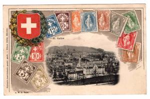 Switzerland Ottmar Zieher embossed stampcard with St. Gallen imprint