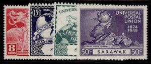 SARAWAK GVI SG167-170, anniversary of UPU set, M MINT.