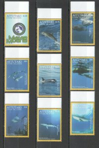 NW0011 2016 AITUTAKI NATIONAL GEOGRAPHIC FISH & MARINE LIFE MICHEL 18€ SET MNH