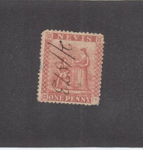 NEVIS # 9 1p RED USED CAT VALUE $55
