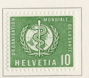 Switzerland Helvetia 1957 Early Issue Fine Mint Hinged 10c. NW-170854