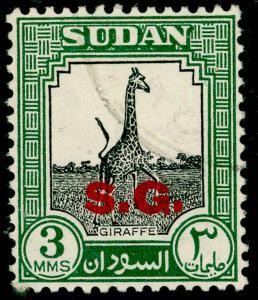SUDAN SGO69, 3m black & green, FINE USED. Cat £23.