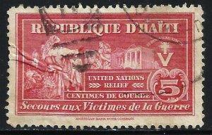 Haiti Postal Tax 1945 Scott# RA8 Used (crease)