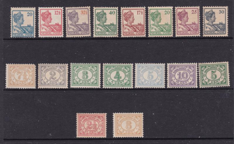 Netherlands Indies a small lot of MH earlies