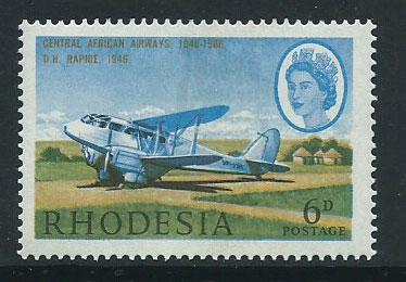 Rhodesia SG 393  MVLH  partial gum on face light shade & ...