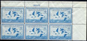 RW15 Mint,OG,NH... Plate Block of 6... SCV $400.00