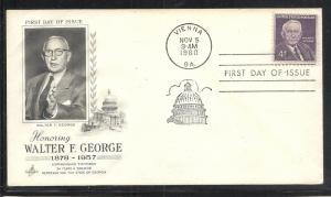 US #1170 George Artcraft cachet addressed fdc
