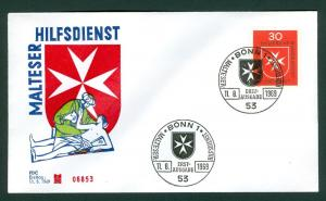 Germany.1969 FDC. Maltese Cross. Relief Service.