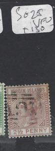 TURKS  ISLANDS (P3009B)  QV 2 1/2D  SG 25   VFU