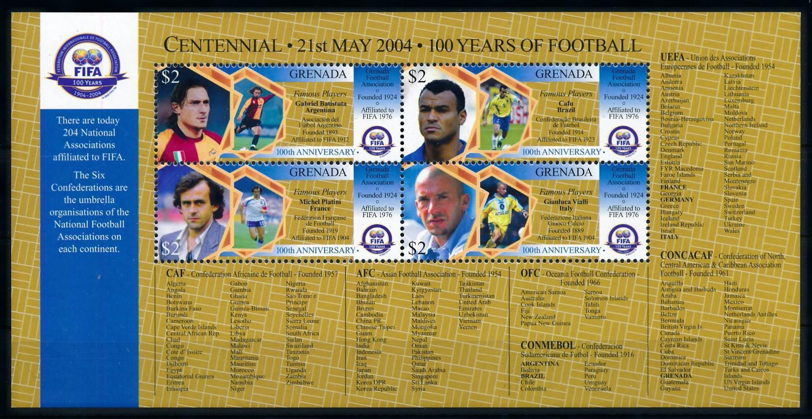 76916] Grenada 2004 Football Soccer Famous Players Batistuta