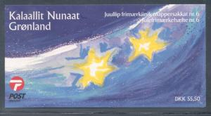 Greenland 2001 Christmas stamp booklet mint NH