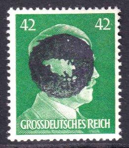 GERMANY 529 1944 SCHWÄRZUNGEN FLÖHA C1 OVERPRINT SIGNED OG NH U/M VF