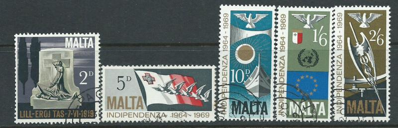 Malta SG 422 - 426  set Philatelic Bureau Cancel