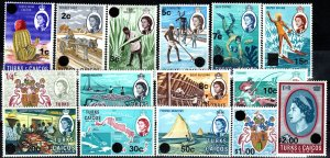 Turks And Caicos #181-95 MNH CV $11.10 (X1387)
