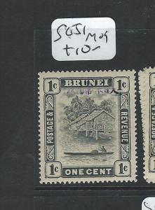 BRUNEI  JAPANESE OCCUPATION (P1801B) 1C  SG J1  MOG