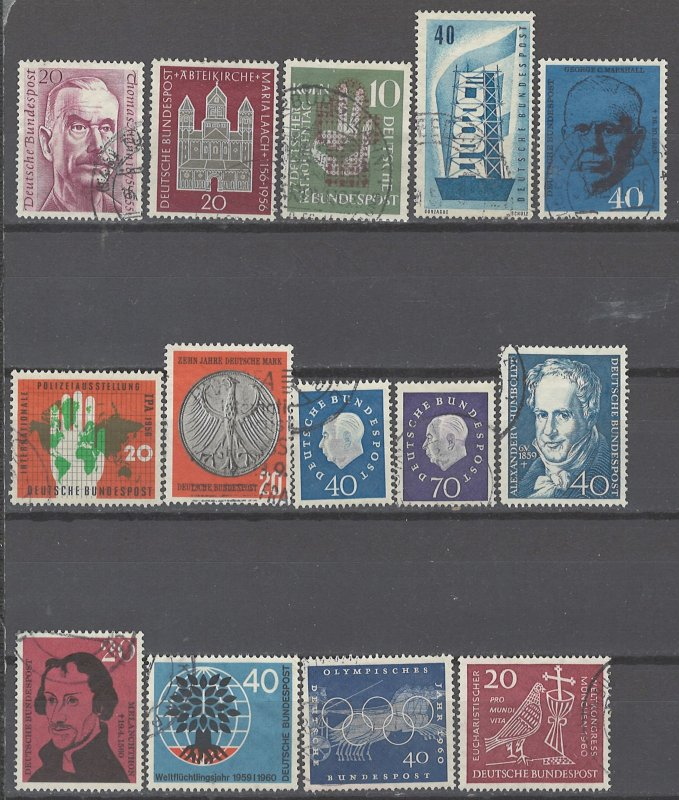 COLLECTION LOT # 2340 GERMANY 14 STAMPS 1956+ CV+$21