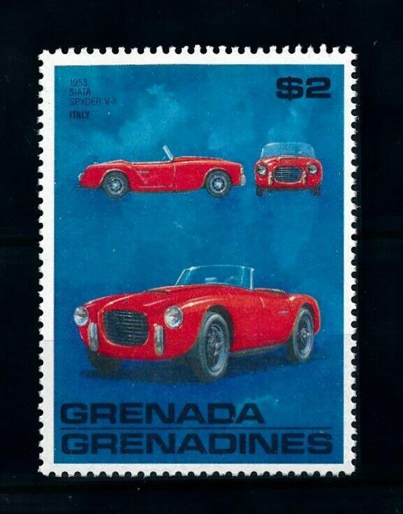 [100245] Grenada Grenadines 1988 Classic Cars 1953 Siata Spyder V-8  MNH