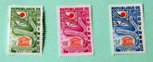 Guinea - 433-35, MNH Set. UNESCO. SCV - $1.60