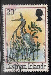 Cayman  Scott 456 tricolor Heron stamp Used