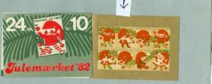 Denmark, Booklet  1982  Christmas 24 Seals MNH.Santa,Girl. See Description,Scan