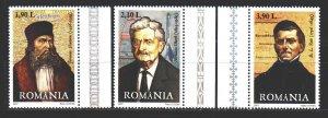 Romania. 2007. 6235-37. Theologian, engineer, teacher rocket. MNH.