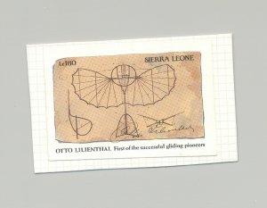 Sierra Leone 1991 Lilienthal Glider 1v Imperf Essay on Card