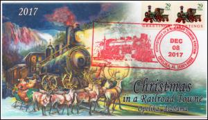 17-410, 2017, Christmas in a Railroad Towne, Opelika AL, Pictorial, Event Cover,