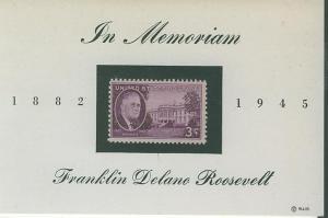 USA SC#932 Franklin Roosevelt Memoriam Card