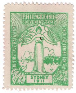 (I.B) Australia Cinderella : First Australian Philatelic Exhibition (1911)
