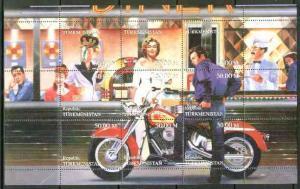 Turkmenistan 1999 Bikers Diner (Marilyn, James Dean, Boga...